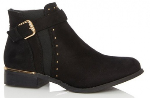Quiz Black Studded Chelsea Boot