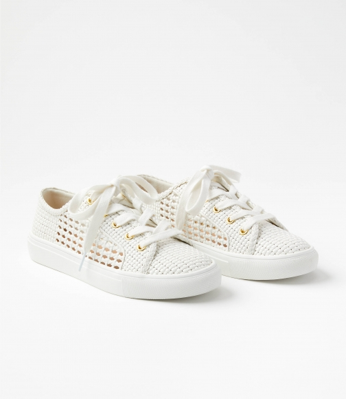 Loft Woven Lace Up Sneakers Trainer
