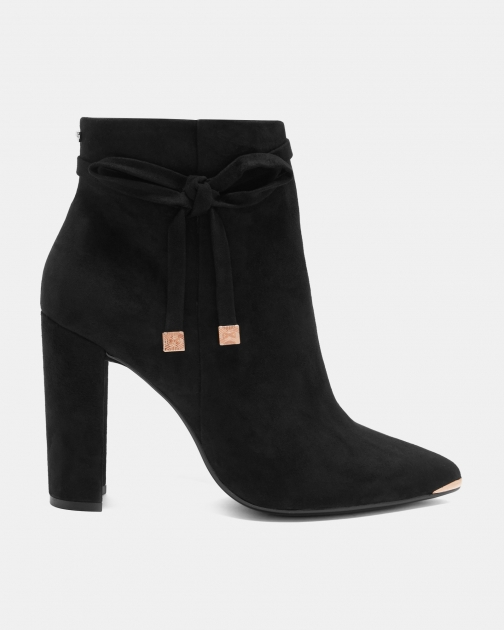 Ted Baker Suede Bow Detail Ankle Boot