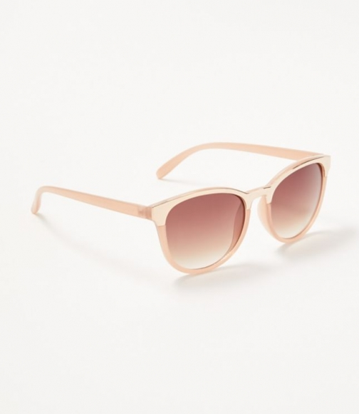 Loft Metallic Trim Square Sunglasses