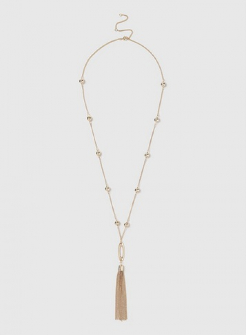 Dorothy Perkins Gold Ball Chain And Tassel Necklace