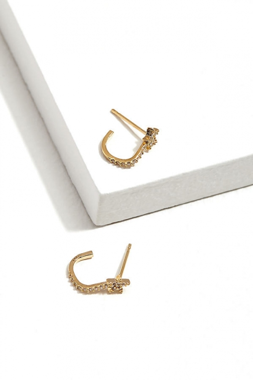 Anthropologie Jewelled-Star Hoop Earring