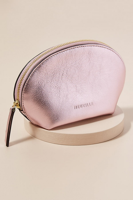 Neuville Metallic-Leather Pouch