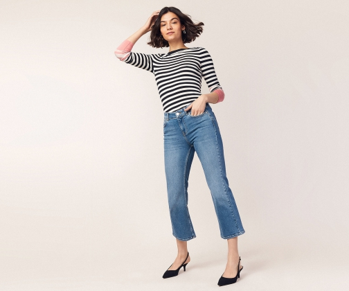 Oasis Crop Kick Flare Jeans