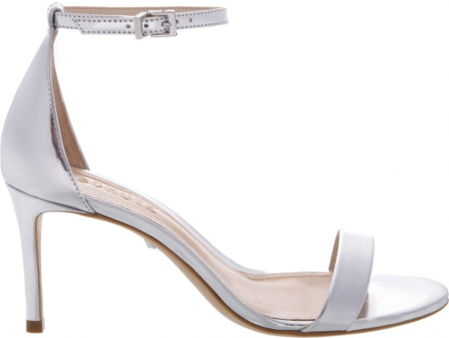 Schutz Shoes Alene Sandal - 8 Prata Silver Specchio Leather Sandals