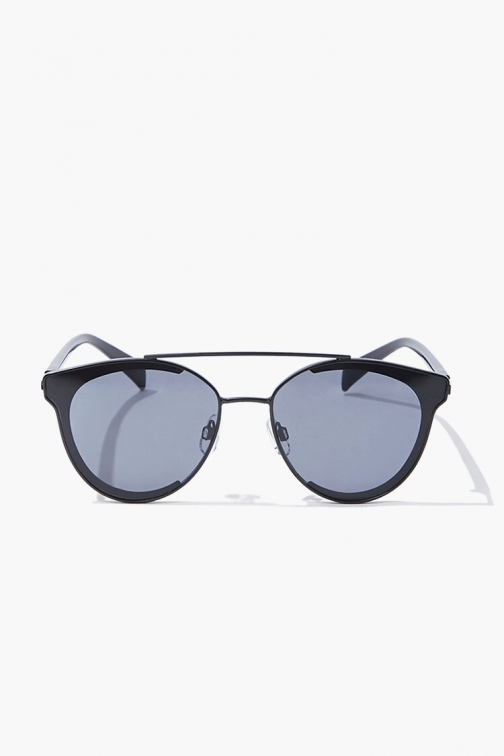 Forever21 Forever 21 Concave Tinted , Black Sunglasses