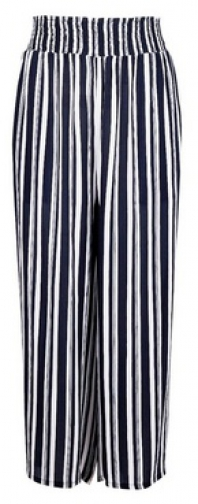 Dorothy Perkins Navy Stripe Culotte Trousers Trouser