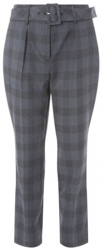 Dorothy Perkins Womens Check Belted - Multi Colour, Multi Colour Tapered Trouser