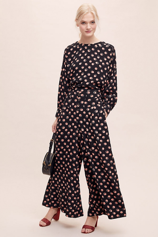 Seen Worn Kept Spot-Print Wide-Leg Co-Ord Trousers Trouser