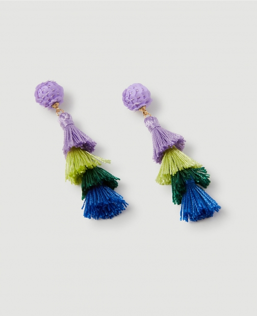 Ann Taylor Tiered Thread Statement Earring