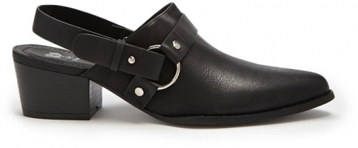 Forever21 Forever 21 Faux Leather Slingback Booties , Black Boot