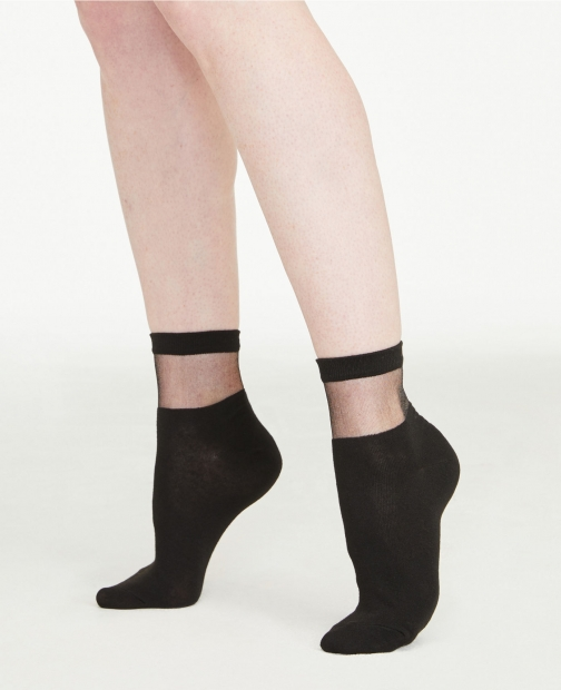 Ann Taylor Sheer Cutout Ankle Sock