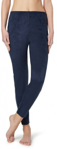 Calzedonia Suede Effect Woman Blue Size L Legging