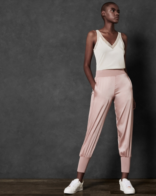 Ted Baker Satin With Knit Trim Jogger