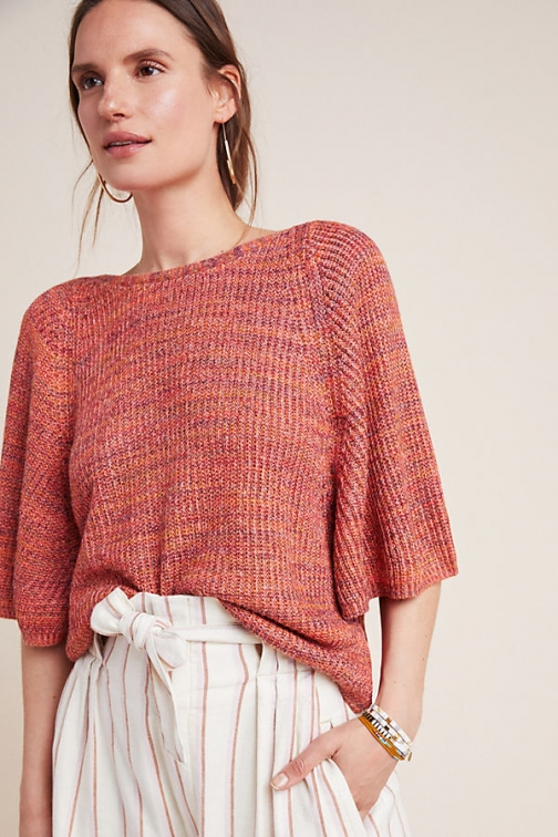 Anthropologie Space-Dyed Knit Jumper