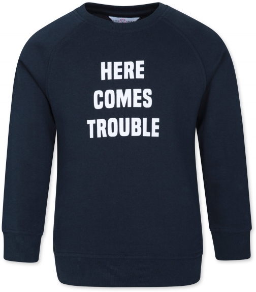 Mountain Warehouse Here Comes Trouble Kids - Navy Sweatshirt