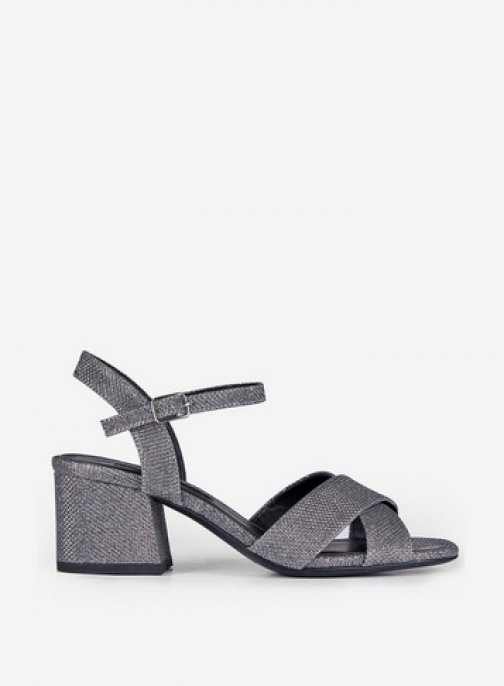 Dorothy Perkins Silver 'Boom' Cross Over Heeled Sandals