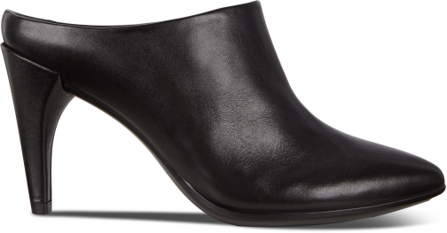 Ecco Shape 75 Pointy Heeled Womens Mules Size 4 Black Shoes
