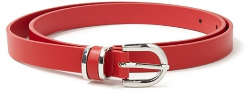 Forever21 Forever 21 Skinny Faux Leather , Red Belt