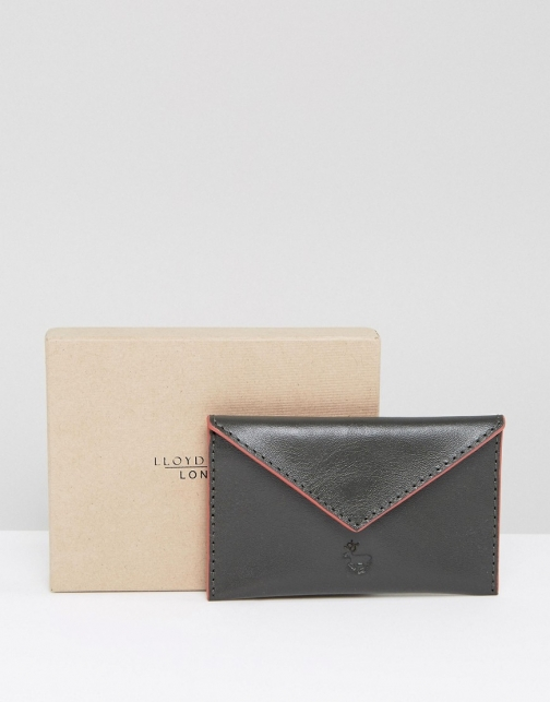 Asos Lloyd Baker Leather Card Holder With Contrast Piping Accessorie