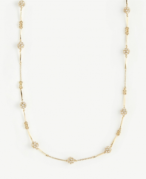 Ann Taylor Pave Fireball Station Necklace