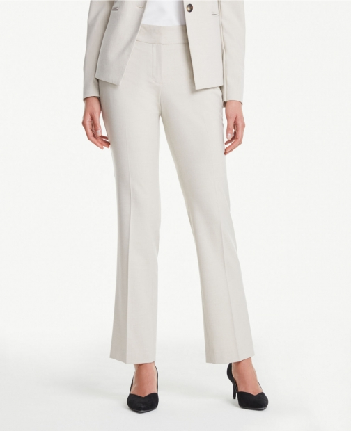 Ann Taylor Straight Leg Pants Neutral Trouser