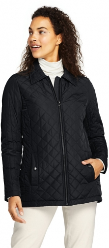 Lands' End Women's Insulated Quilted Barn - Lands' End - Black - XS Jacket