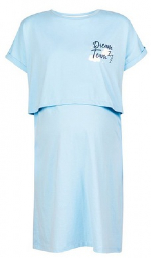 Dorothy Perkins Maternity Blue 'Dream Team' Print Nursing Nightie Pyjama