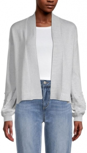Loft Bobble Sleeve Open Cardigan