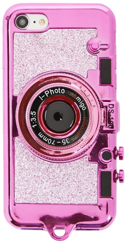 Forever21 Forever 21 Glittered Camera For IPhone 7/8 , Pink/black Case