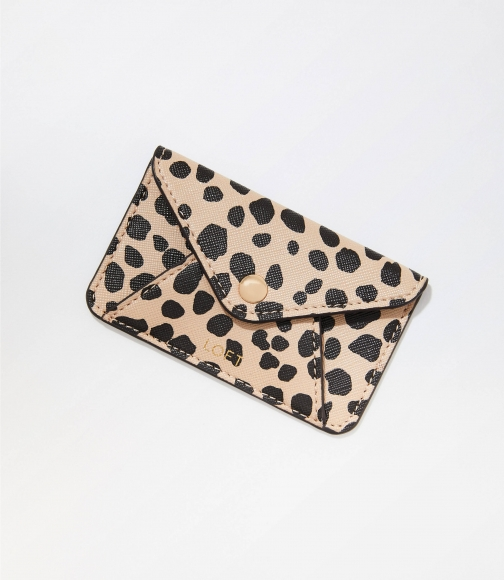 Loft Leopard Print Tech Card Case