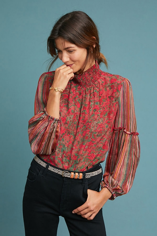 Anthropologie Mixed Motif - Assorted, Size Blouse
