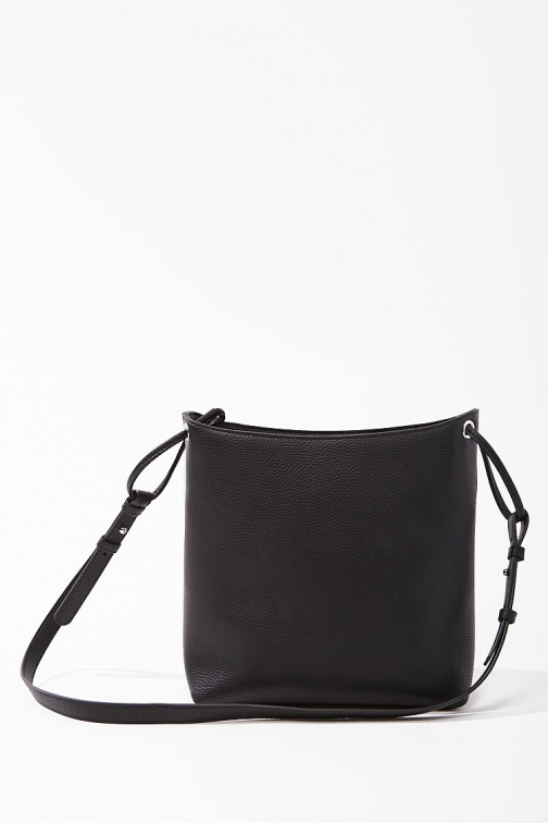 Forever21 Pebbled Faux Leather Bag At Forever 21 , Black Tote