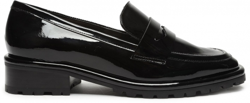 Schutz Shoes Jolie Patent Leather Loafer - 5 Black Patent Leather Shoes