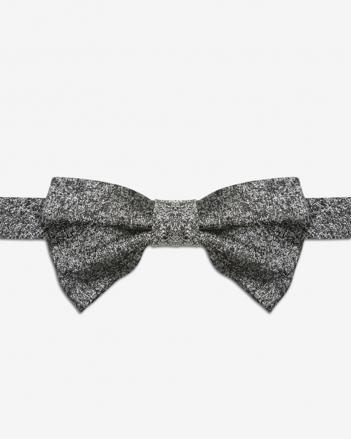 Ted Baker Textured Silk Silver Colour Bow Tie