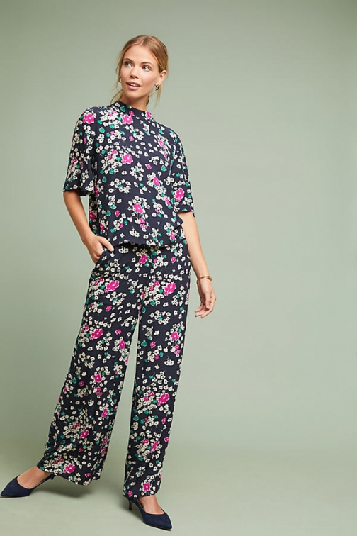 Selected Femme Paquin Floral-Print Trousers Trouser