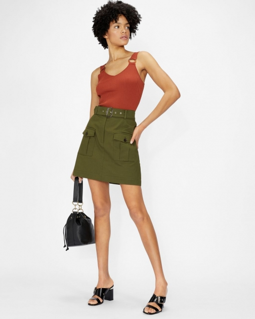 Ted Baker Utility With Front Pockets Mini Skirt