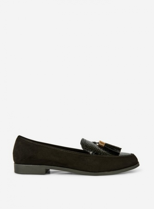 Dorothy Perkins Black 'Lille' Loafers Shoes