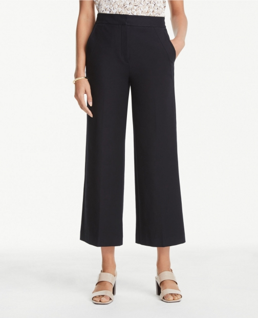 Ann Taylor Curvy Wide Leg Crop Pants Trouser