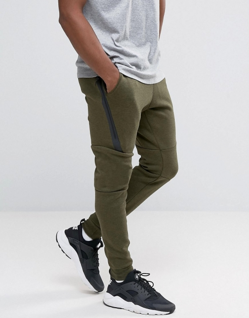 Nike Tech Skinny Joggers Green 805162-330 Fleece