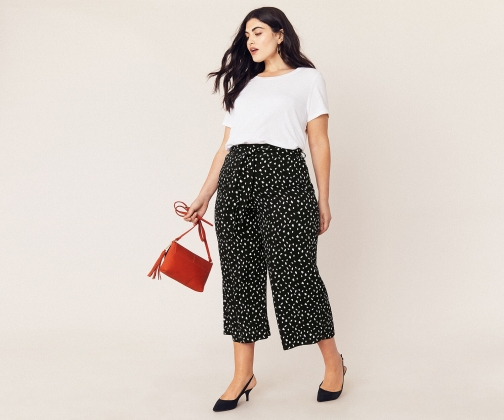Oasis Curve Lois Wide Trousers Trouser