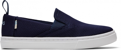 Toms Navy Sport Knit Youth Luca Slip-Ons Shoes