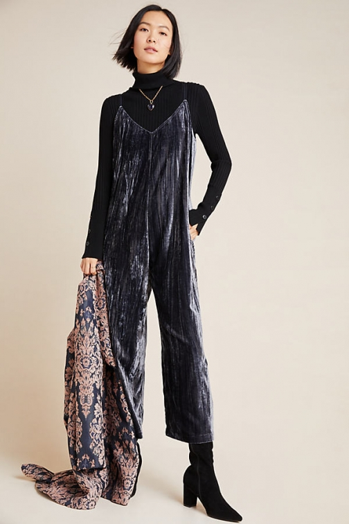 Dolan Left Coast Rocio Crushed Velvet Jumpsuit