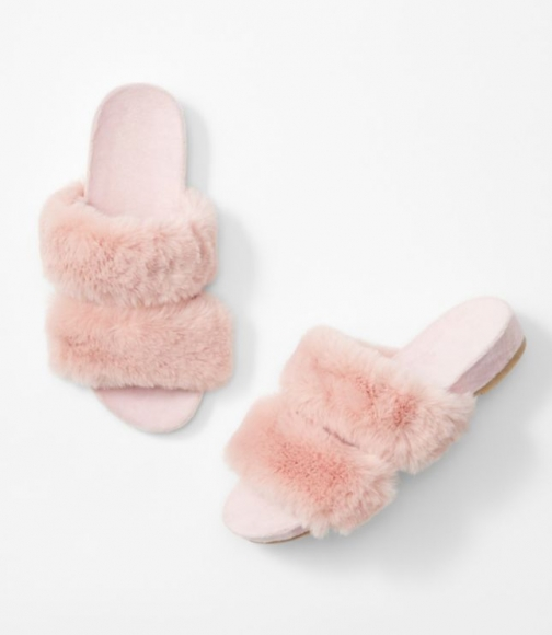 Loft Faux Fur Slippers