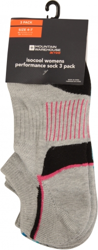 Mountain Warehouse IsoCool Performance Womens Multipack - Grey Sock
