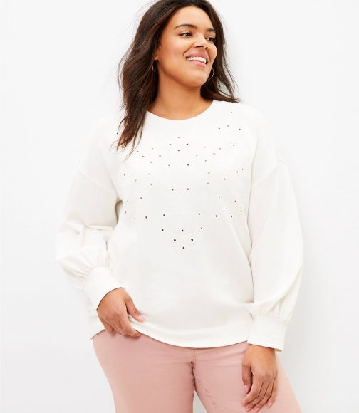 Loft Plus Eyelet Sweatshirt