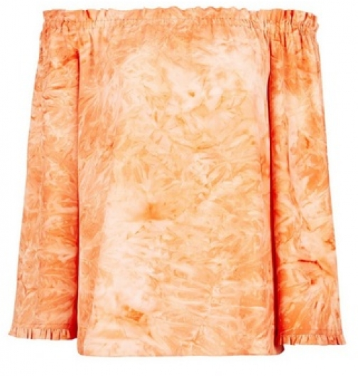 Dorothy Perkins Orange Tie Dye Print Bardot Top