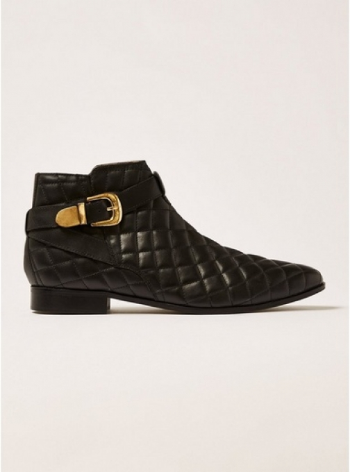 House Of Hounds Mens HOUSE OF HOUNDS Black Leather Harpy Quilted Buckle , Black Boot