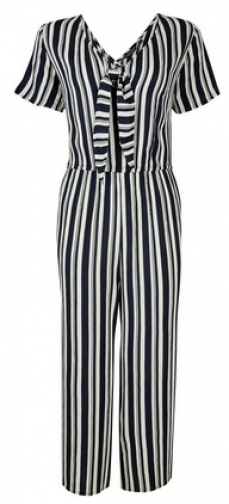 Dorothy Perkins Navy Striped Jumpsuit