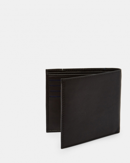 Ted Baker Striped Piping Bi-fold Leather Wallet